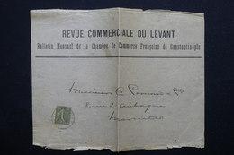 FRANCE - Affranchissement Semeuse Sur Devant D'enveloppe Commerciale Du Levant , Oblitération Trésor Et Postes - L 22715 - Marcophilie (Lettres)