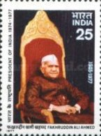 USED STAMPS India - Death Of President Ahmed  -  1977 - India