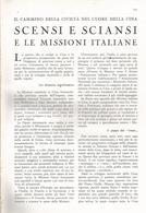 ARTICOLO RITAGLIATO DA GIORNALE 1939 CINA: SCENSI E SCIANZI E LE MISSIONI ITALIANE - Altri