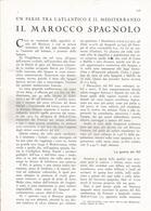 ARTICOLO RITAGLIATO DA GIORNALE 1939 IL MAROCCO SPAGNOLO - Altri
