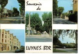 13 Luynes En Provence Vers Aix En 5 Vues N°2083 En 1974 Tabac Fontaine Société Générale Ford Taunus 17M Citroën 2CV - Aix En Provence