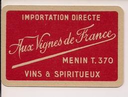 MENEN MENIN MEENEN SPEELKAART AUX VIGNES DE FRANCE - Cartes à Jouer Classiques