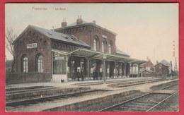 Frameries - La Gare ... Jolie Carte Couleur - Feldpost 1915 ( Voir Verso ) - Frameries
