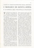 ARTICOLO RITAGLIATO DA GIORNALE 1939 I MOSAICI DI SANTA SOFIA - Altri