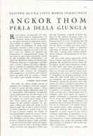ARTICOLO RITAGLIATO DA GIORNALE 1939 ANGKOR THOM PERLA DELLA GIUNGLA - Altri