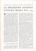 ARTICOLO RITAGLIATO DA GIORNALE 1939 LA SPEDIZIONE OUDINOT CONTRO ROMA NEL 1849 - Altri