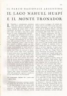 ARTICOLO RITAGLIATO DA GIORNALE 1939 IL LAGO NAHUEL HUAPT E IL MONTE TRONADOR - Altri