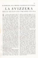 ARTICOLO RITAGLIATO DA GIORNALE 1939 LA SVIZZERA NELL'ATTIVITA' PRODUTTIVA - Altri