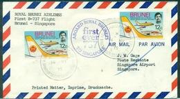 BRUNEI 1ER VOL B737 Pour SINGAPOUR 14.5.1975 Arrivée Le 16 - Brunei (1984-...)