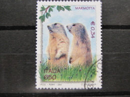 *ITALIA* USATI 2001 - GIORNATA MONDIALE NATURA - SASSONE 2536 - LUSSO/FIOR DI STAMPA - 6. 1946-.. Repubblica