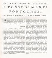 ARTICOLO RITAGLIATO DA GIORNALE 1939 I POSSEDIMENTI PORTOGHESI:ANGOLA MOZAMBICO E ASIA CON CARTINA - Altri