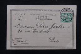 EGYPTE - Oblitération Du Grand  Continental Hôtel Du Caire Sur Carte Postale En 1904 Pour Paris - L 22734 - Égypte