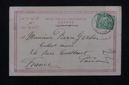 EGYPTE - Oblitération Du Grand  Continental Hôtel Du Caire Sur Carte Postale En 1904 Pour Paris - L 22735 - Égypte
