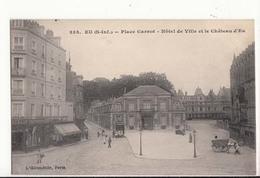 CPA 76 - Eu - Place Carnot - Hôtel De Ville Et Le Château D'Eu : Achat Immédiat - Eu