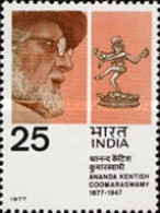 USED STAMPS India - The 100th Anniversary Of The Birth Of Ananda Kentish -  1977 - India
