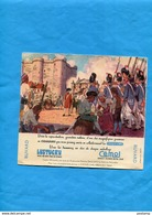 "-BUVARD-""chocolat CEMOI+pates LUSTUCRU "" -Illustrée -Révolution Prise De La Bastille -années 40-50 - Chocolat"