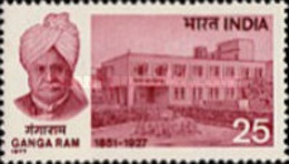 USED STAMPS India - The 50th Anniversary Of The Death Of Sir Ganga Ram -  1977 - India