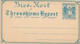 THRONDHJEMS - Bypost  -  Brev-Kort , Privatpost - Postal Stationery