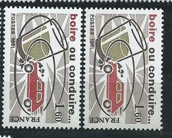 [28] Variété :  N° 2159 Boire Ou Conduire Voiture Brun Clair Au Lieu De Brun + Normal ** - Varieties: 1980-89 Mint/hinged