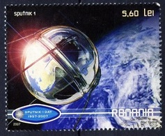 Roumanie - Rumänien - Romania Bloc Feuillet 2007 Y&T N°BF341 - Michel N°B411 (o) - Lancement Spoutnik - Extrait Du Bloc - Blocchi & Foglietti