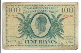 100 Francs Caisse Centrale De La France Libre,outre Mer - Unclassified