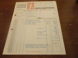 FATTURA FABBRICA ITALIANA SUPER BATTERIE-GENOVA RIVAROLO -1951 - Italia
