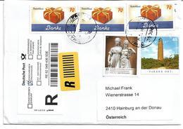"""1692e: Deutschland- Auslandsrekobrief """"Danke"""" Aus Meinem Sammlerpost- Eingang - BRD"""