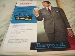 ANCIENNE PUBLICITE TOUTES SAISONS  BAYARD 1960 - Habits & Linge D'époque