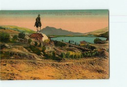 LAFFREY - Statue De Napoléon Devant Le Lac - Carte Colorisée - TBE - 2 Scans - Laffrey