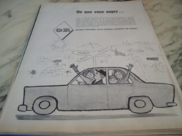 ANCIENNE PUBLICITE OCCASION OR VOITURE  RENAULT 1960 - Voitures