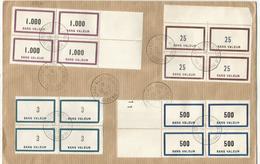 FICTIFS 1.000 BLOC DE 4+25 BLOC 4+3 BLOC DE 4+500 BLOC DE 4 LETTRE ALGER 12.11.1963 CENTRE REGIONAL - Fictifs