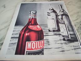 ANCIENNE PUBLICITE NOILLY PRAT 1960 - Alcools