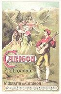 FR66 SAINT MARTIN DU CANIGOU - Carte Pub Liqueur De L'abbaye - Guitariste - Belle - Publicité