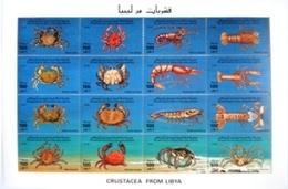Bloc Feuillet Neuf 1996 Crustacea From Libya  2euros By Registred Post - Libye