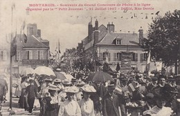 Cpa Dept 45 - Montargis - Souvenir Du Grand Concours De Pêche à La Ligne - Rue Dorée (voir Scan Recto-verso) - Montargis