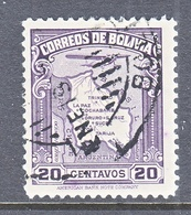 BOLIVIA  C 44  (o)   AERO   MAP - Bolivia
