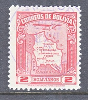 BOLIVIA  C 49  (o)   AERO   MAP - Bolivia