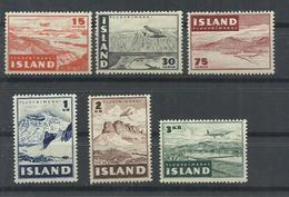 ISLANDIA YVERT AEREO 21/26   MH  * - Poste Aérienne