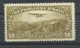 HAITI YVERT AEREO  6  MH  * - Haití