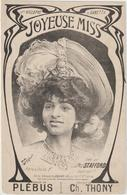 (GEO1) JOYEUSE MISS , Miss STAFFORD , Paroles PLEBUS , Musique CH THONY , Illustration GARRIC - Partitions Musicales Anciennes
