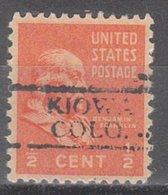 USA Precancel Vorausentwertung Preo, Locals Colorado, Kiowa 728 - Vereinigte Staaten