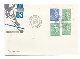 SPORT - EISHOCKEY, WM / VM 1963 Stockholm, FDC - Eishockey