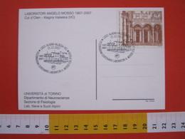 A.08 ITALIA ANNULLO - 2007 ALAGNA VERCELLI VALSESIA 100 ANNI LABORATORIO MOSSO COL D'OLEN 3000 M SLM MONTAGNA MONTE ROSA - Geologia
