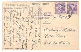 14019 - S.S. DROTTNINGHOLM - Lettres & Documents
