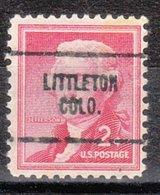 USA Precancel Vorausentwertung Preo, Locals Colorado, Littleton 704 - Vereinigte Staaten