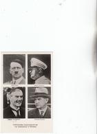 Hitler,Mussolini,Champerlein,Daladier - Weltkrieg 1939-45