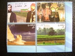 Egypt, 2004, Discover Egypt, Art, History, Pyramid, Block Of 4, - Egypt