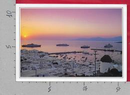 CARTOLINA VG GRECIA - Panorama Al Tramonto Sul Porto - 11 X 16 - ANN. 1989 KRANIDI - Grecia