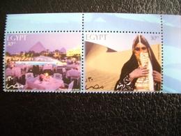 Egypt, 2004, Discover Egypt, Art, History, Pyramid, Pair, Folk Art - Unused Stamps