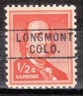 USA Precancel Vorausentwertung Preo, Locals Colorado, Longmot 745 - Vereinigte Staaten